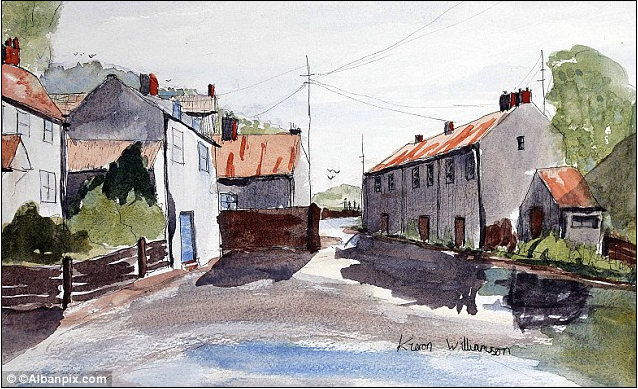 One of Kieron Williamson's watercolors