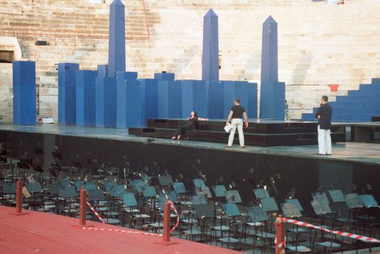 Behind the scenes during the rehearsals